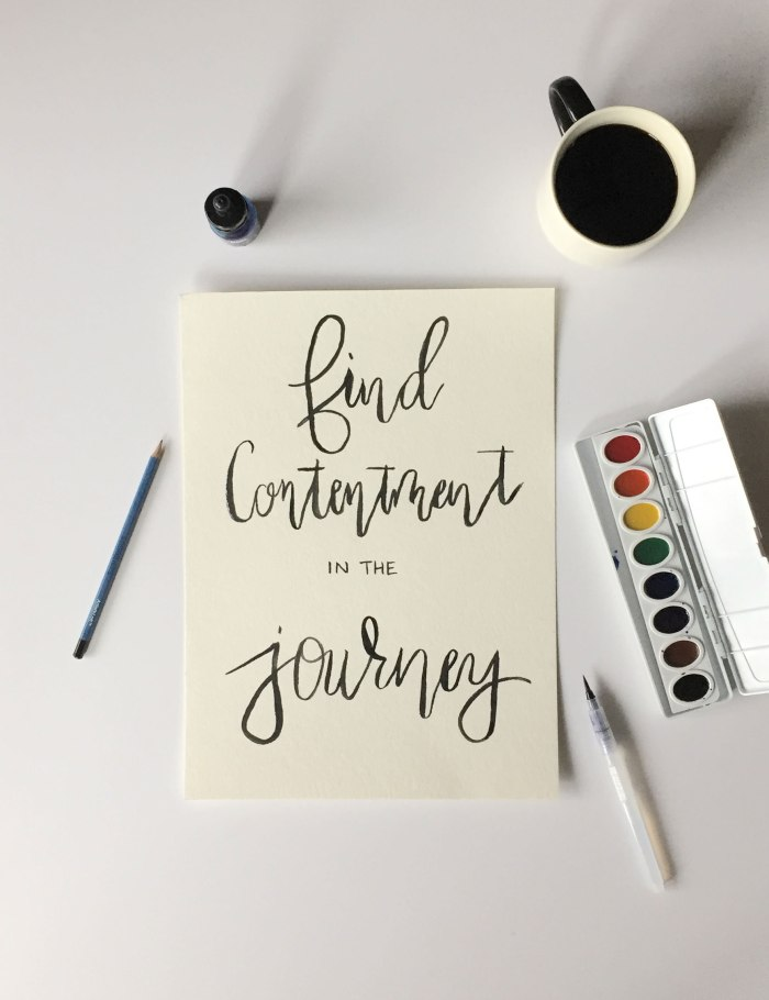 Find Contentment in the Journey