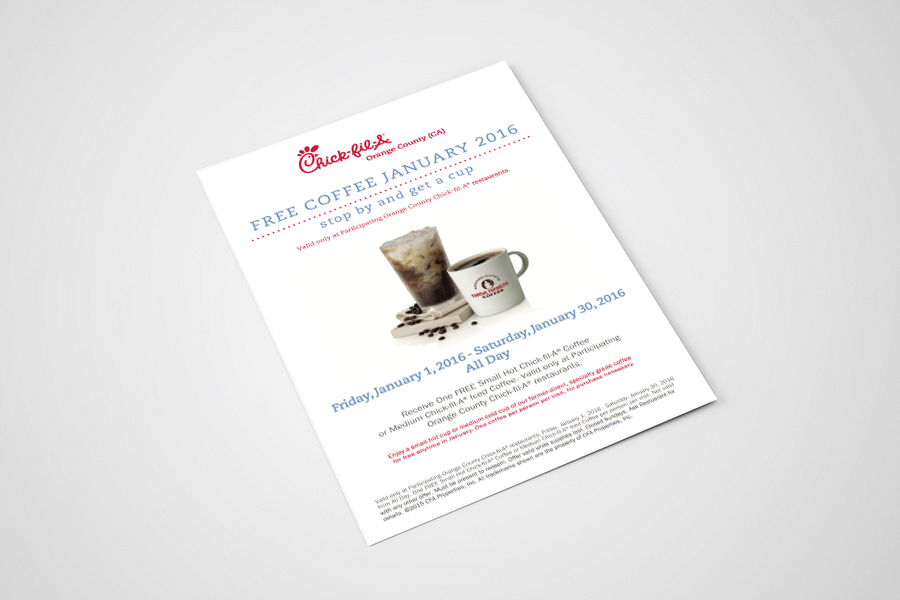 Chick-Fil-A Flyer Mockup