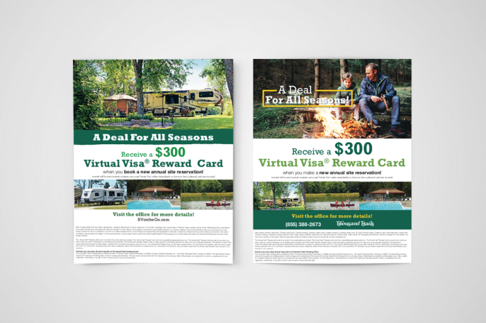 2 Flyers mockup for Equity Lifestyle Properties